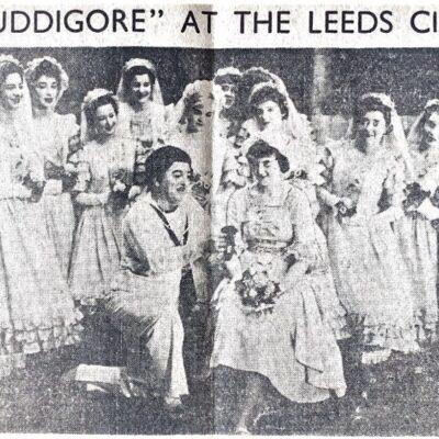John Goodyer (Dauntless) with Pauline Jagger (Maybud) with the female chorus